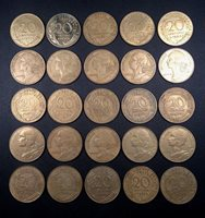Free Shipping!!!! 16 1//2 Franc Coins PURE NICKEL! France Coin Lot