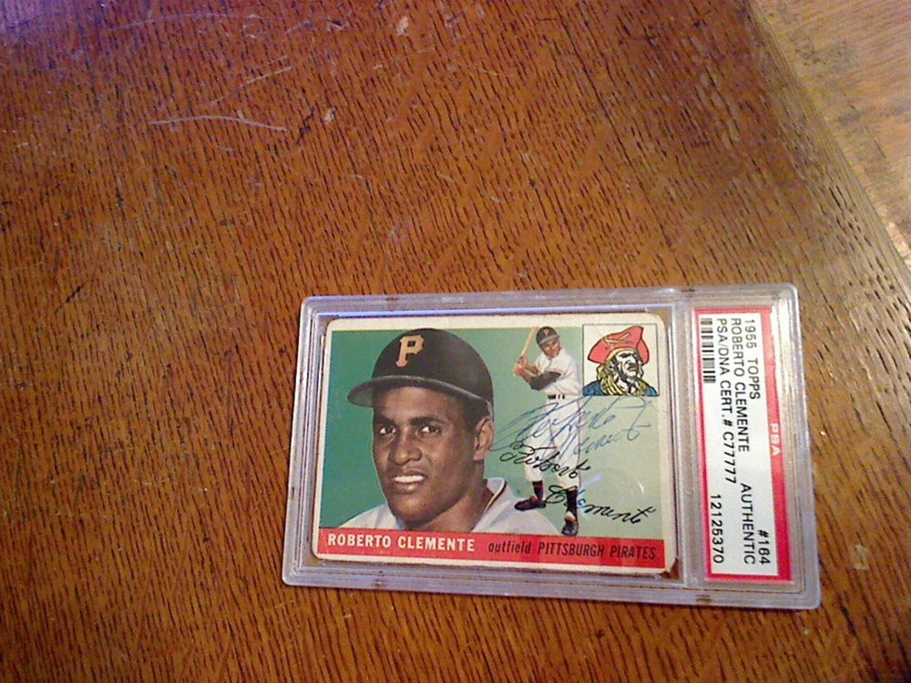 Signed 1955 Topps 164 Roberto Clemente Rookie Card Psadna