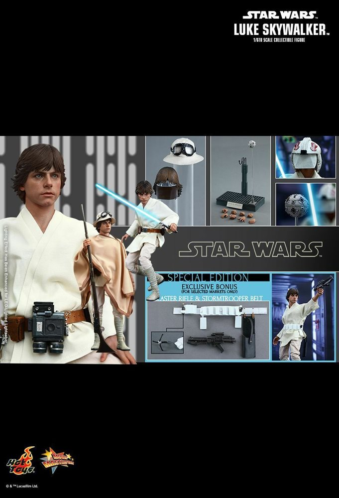 Ready Hot Toys MMS 297 Star Wars IV A New Hope 1//6 Luke Skywalker Hamill Normal