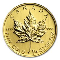 1/4 Oz Canadian Gold Maple Leaf Coin