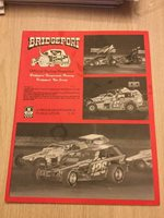 1984 August Bridgeport Speedway Car Racing Program Race Track South Jersey Rare
