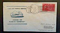 1949 USS Pollux Oakland CA To Camden NJ Last Service Illustrated Naval Cover