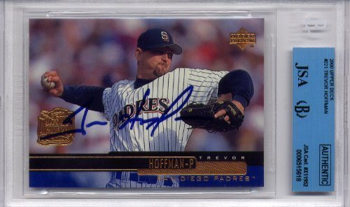 Trevor Hoffman San Diego Padres Jsa Certified Authentic Autograph 2000 Upper Deck Autographed Baseball Cards