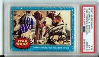 PSA/DNA MARK HAMILL /KENNY BAKER signed 1977 Topps Star Wars Autograph Skywalker