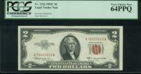 Fr No.1512 $2 Legal Tender Notes 1953C PCGS 64PPQ