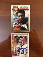 Cleveland Browns Mike Pruitt Signed 1980 Topps card