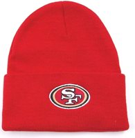 San Francisco 49ers Reebok NFL Football Cuffed Knit Bea 0b4c66d8f2a5