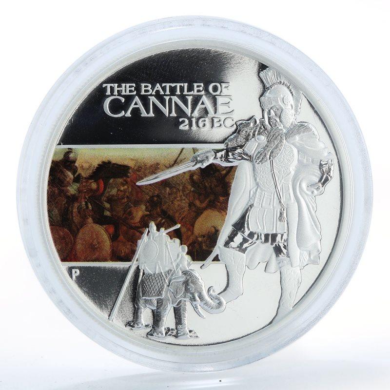 Silver Proof Tuvalu 2009 Battle of Cannae216 BC 1oz