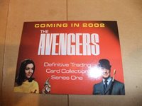 THE DEFINITIVE AVENGERS DIANA RIGG EMMA PEEL TV 10 card preview set A promo PINK