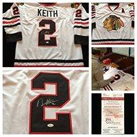 wholesale dealer 2212a 4b463 Duncan Keith Chicago Blackhawks Signed Autograph White Hockey Jersey #2.  JSA COA
