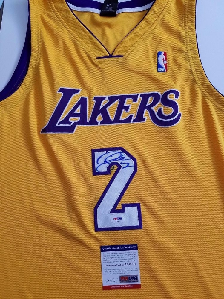 891678eccfb Derek Fisher signed jersey PSA DNA Los Angeles Lakers A