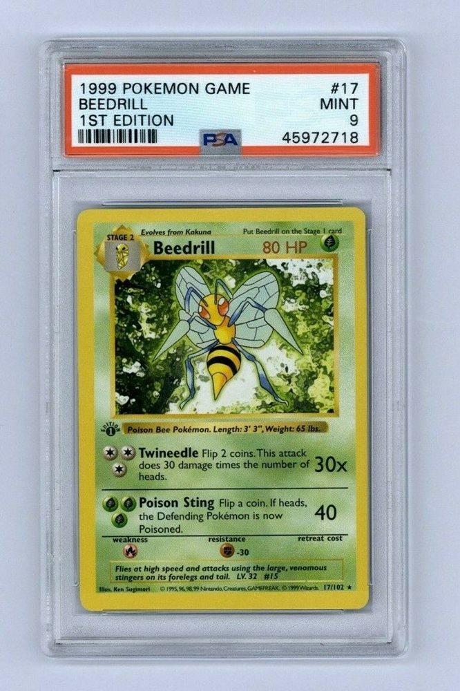 Base Set 17//102 BEEDRILL RARE nonholo very good condition Pokemon Card