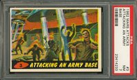 """1962 Mars Attack #3 ATTACKING AN ARMY BASE PSA 7 NM """"""""1962 Mars Attack #3 ATTACKING AN ARMY BASE PSA 7 NM """""""""""