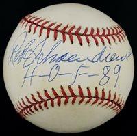 "Red Schoendienst ""H-O-F 89"" Signed Autographed OML Baseball PSA/DNA Graded 7"