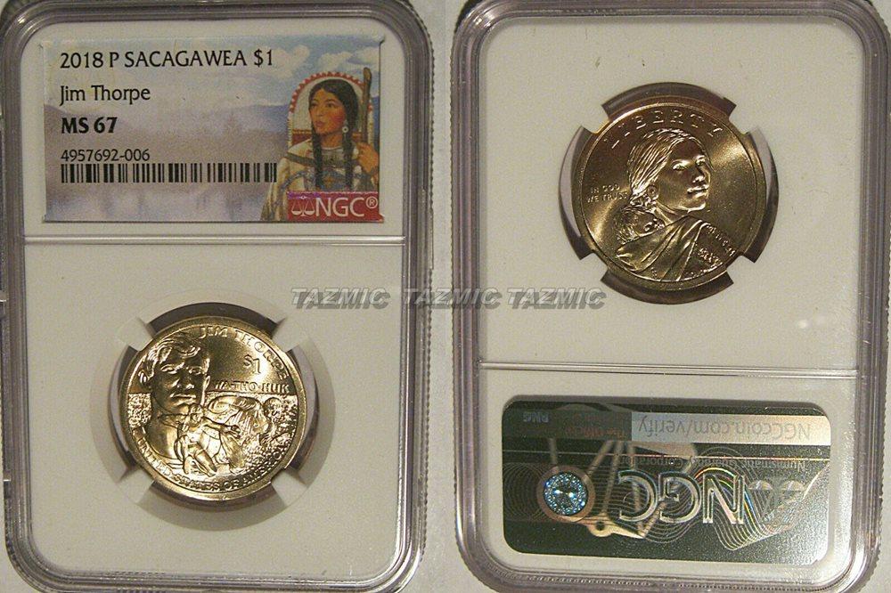 2018 P Native Sacagawea Dollar $1 PCGS MS66 Position B  FIRST STRIKE
