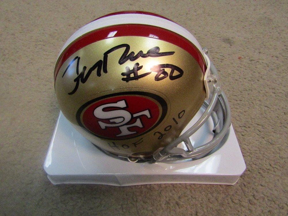 51e091bca JERRY RICE AUTOGRAPHED SAN FRANCISCO 49ers MINI HELMET