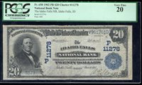 1902 $20 Idaho Falls National Bank CH# 11278 Fr. 658 - PCGS VF 20