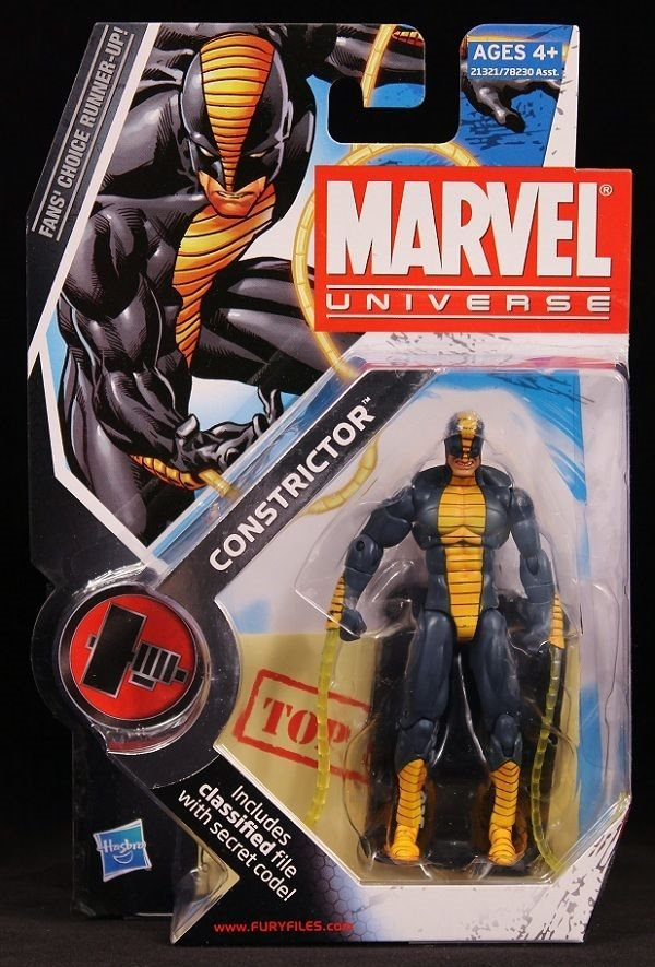 """CONSTRICTOR Marvel Universe Fans Choice 4/"""" inch Action Figure #25 Hasbro 2010"""