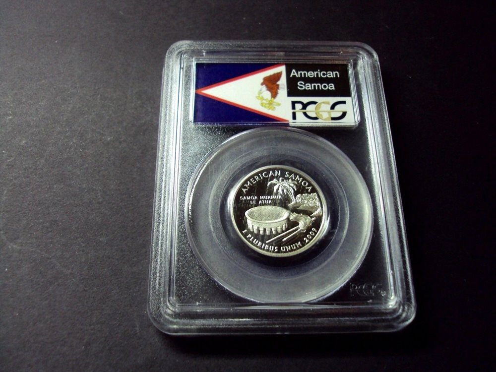 2009 S 25C Silver American Samoa Quarter PCGS PR69DCAM