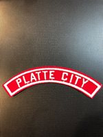 Platte City red and white community strip