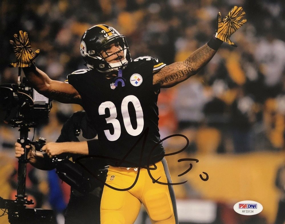 quality design 9b602 166a3 James Conner Autographed Signed Pittsburgh Steelers 8x10 Photo Strong  PSA/DNA - Authentic MemorabiliaCUSTOM FRAME YOUR JERSEY