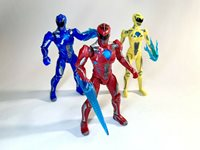 Mighty Morphin 2017 POWER RANGERS Movie Figure LOT Basic 5in Rangers Custom