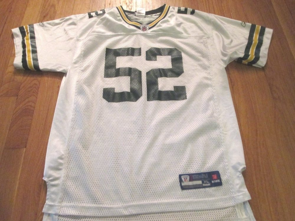 sneakers for cheap ce0b4 f3db6 REEBOK NFL EQUIPMENT GREEN BAY PACKERS CLAY MATTHEWS JERSEY SIZE YOUTH XL  18-20