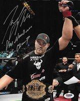 Tim Sylvia Signed UFC 8x10 Photo COA Picture w/ Belt 2x Champ Autograph - PSA/DNA Certified - Autographed UFC Photos