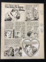 Love Lessons #2 Original Comic Book Art Complete Two Page Story Issue | 1949