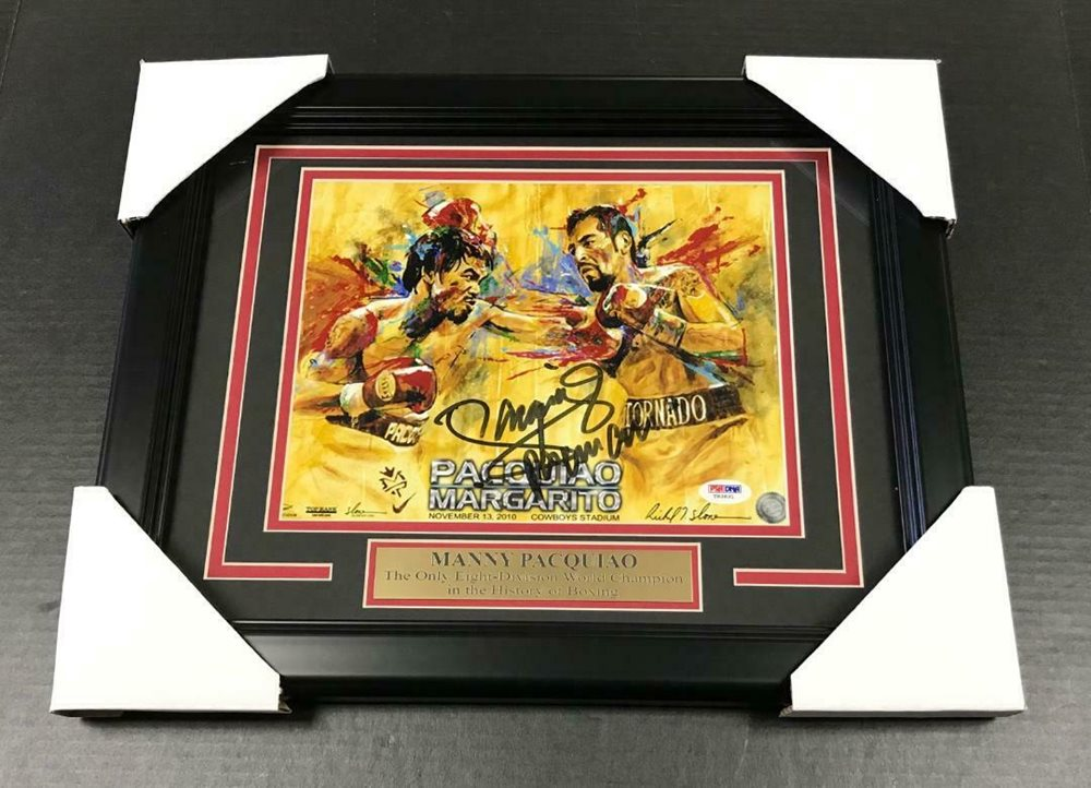 14de9f3c0d303 MANNY PACQUIAO BOXING AUTOGRAPHED SIGNED 8x10 FRAMED PHOTO PSA DNA