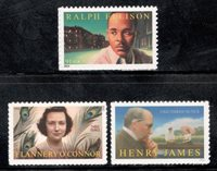 4866-5003-5105 Writers Set Of 3 Mint/nh Free Shipping (A-9)