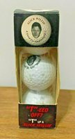Vintage Unique Pack of 3 Bill Clinton Slick Willie Golf Balls Sleeve NIP