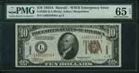 Fr No.2303 $10 Hawaii 1934A PMG 65EPQ