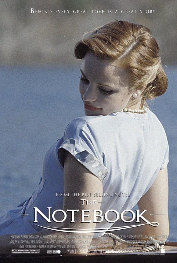 THE NOTEBOOK Movie POSTER 27x40 K Ryan Gosling Rachel McAdams Tim Ivey  Starletta