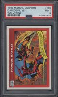 1990 Impel Marvel Universe #109 Daredevil Vs Wolverine PSA 9 Mint