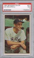 1953 Bowman LOU BOUDREAU # 57 (PSA 7 NM) MLB Hall of Fame (544