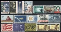 1962 US Commemorative Stamp Year Set; 1191-1207