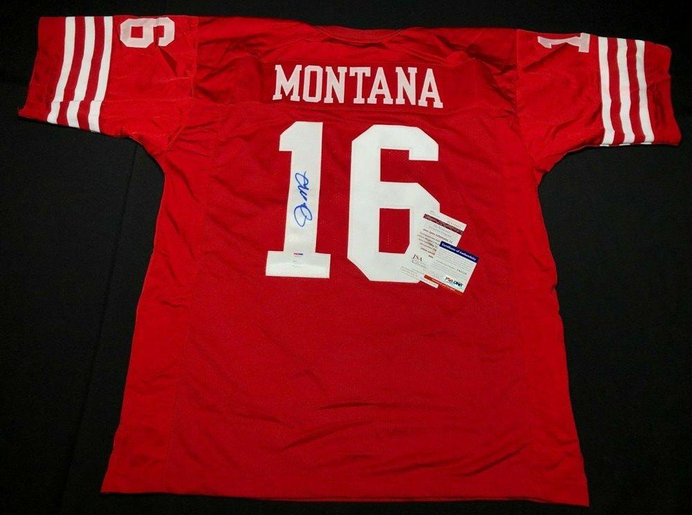 90f06403e9f Joe Montana Signed San Francisco 49ers Football Jersey