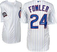 f81c8cadb1f Dexter Fowler Chicago Cubs 2016 MLB World Series Champions Autographed  Majestic White Replica World Series Jersey