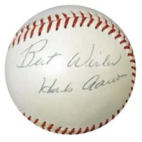 "Hank Aaron & Others Autographed AL Baseball ""Best Wishes"" Vintage PSA/DNA #W05048Hank Aaron & Others Autographed AL Baseball ""Best Wishes"" Vintage PSA/DNA #W05048"
