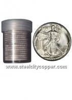 90% Silver Walking Liberty Half Dollar Roll * 1916-1947 Walking Liberty Half Dollars.* 90% Silver.* 20 Circulated US Half Dollars.* Mixed Dates.Out of Stock
