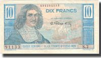 10 Francs Undated Französisch-äquatorialafrika Banknote, Km:21