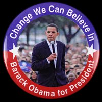 "2008 Barack Obama 3"" Presidential Campaign Pinback Button"