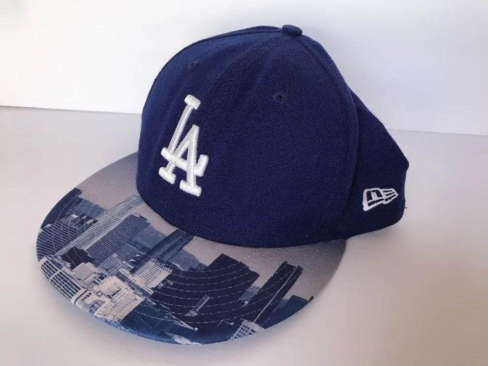 LA City New Era Hat 7 3 8 Fitted 59 FIFTY 80% Wool Embr 91fe2401160