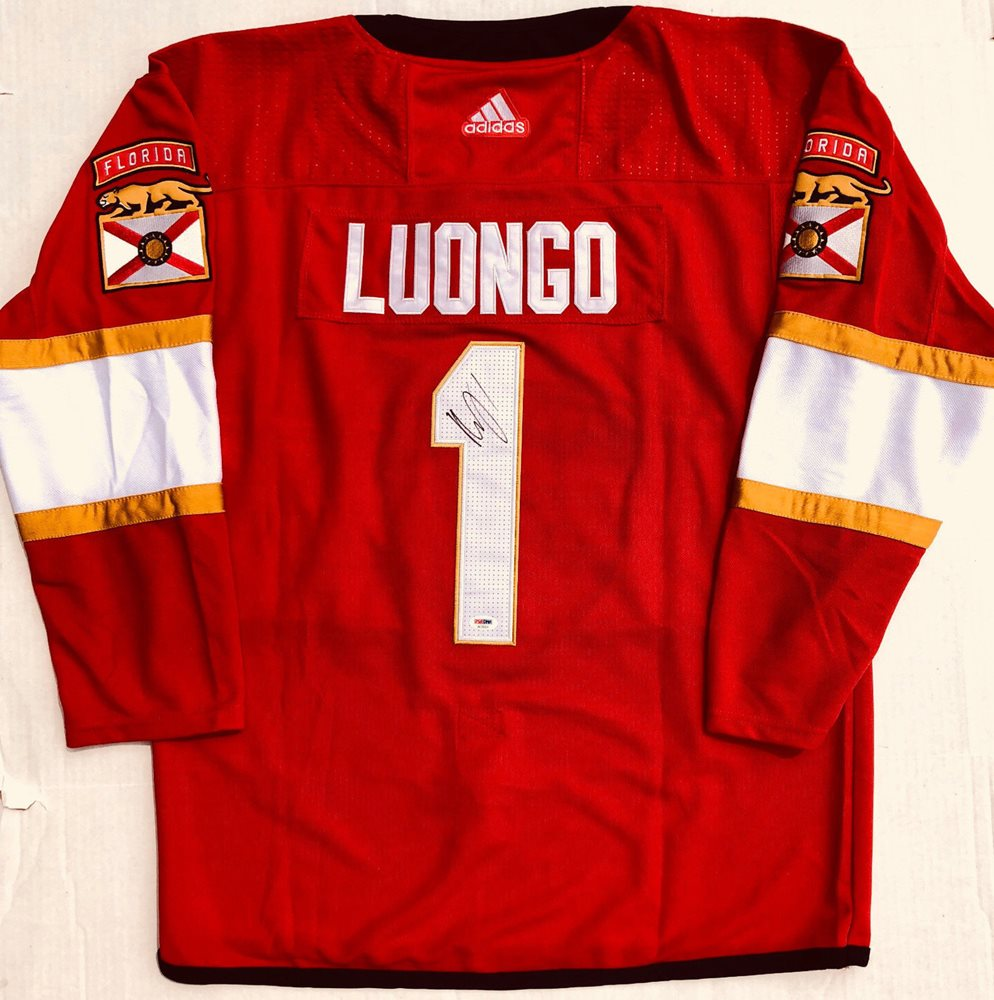 Memorabilia Psa Dna Florida Panthers 1 Roberto Luongo Autographed Signed Hockey Jerseycustom Frame Your Jersey