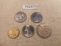 Lot - Five World Coins Mixed Dates Countries Denominations Free SH - # 152470