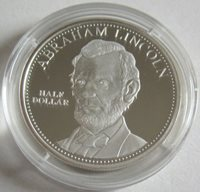 Cook-Inseln 1/2 Dollar 2015 Abraham Lincoln Silber