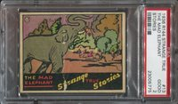 1936 R144 Wolverine Gum Strange True Stories #13 The Mad Elephant PSA Graded