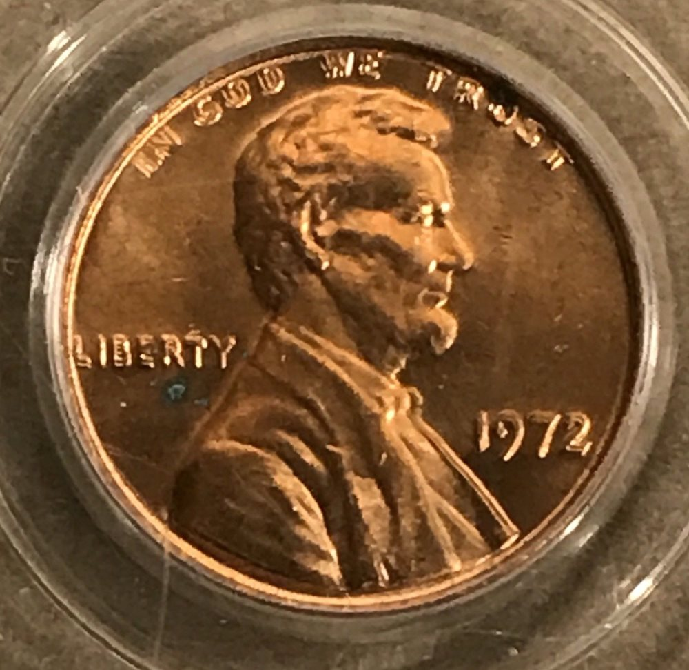 1972 Double Die Lincoln Penny PCGS MS64RD, MS64RD - PCGS