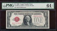 AC 1928 $1 Legal Tender PMG 64 EPQ UNC Fr 1500